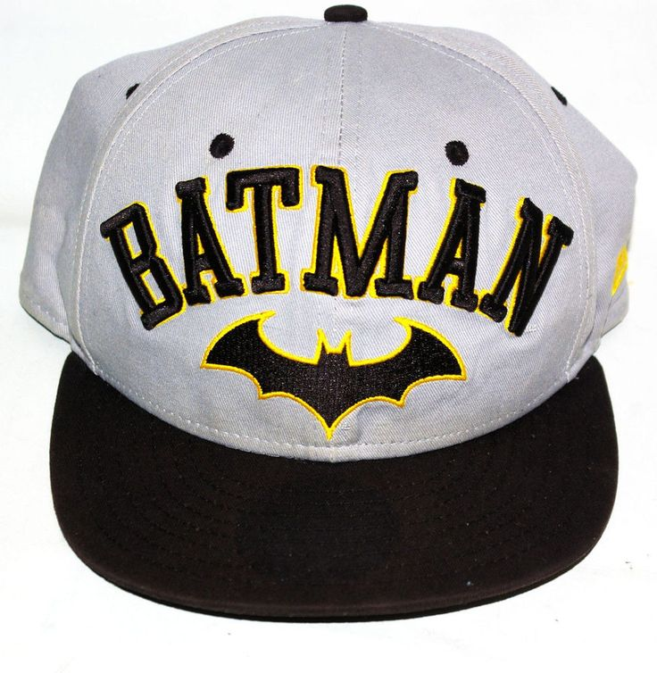Batman Cap New Era Brand Character Logo - One Size Fits All #NewEra #BaseballCap