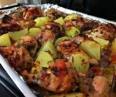 Receita de frango assado com batatas - Show de Receitas