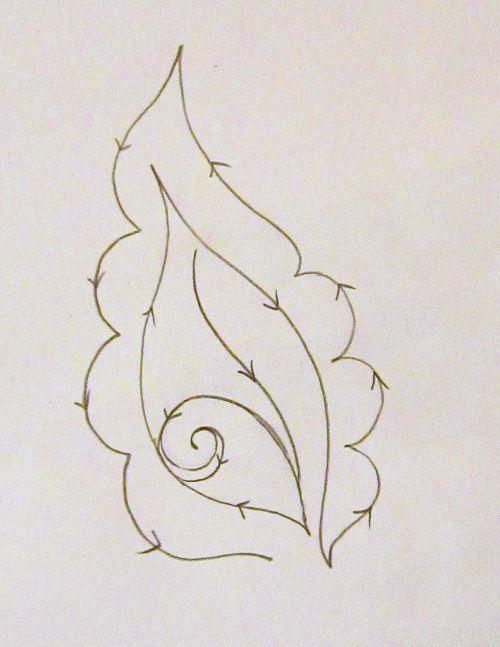 Continuous leaf/petal quilting motif combo - tutorial