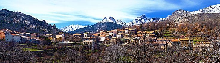 Région di Corti -  Panorama Casamaccioli - Le Niolo (Niolu) est une région de Corse, située au centre nord-ouest de l'île, à l'ouest de Corte, dont le chef-lieu est Calacuccia. C'est un « territoire de vie » du parc naturel régional de Corse.
