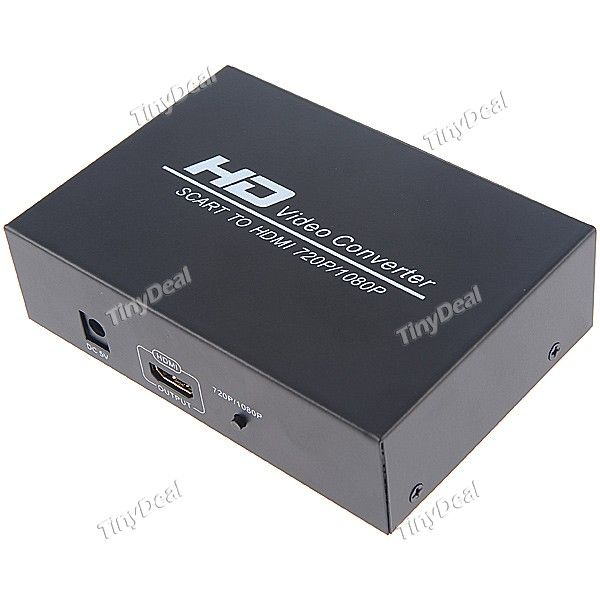 http://www.tinydeal.com/it/new-720p1080p-scart-to-hdmi-hd-video-converter-hdtv-box-p-98366.html  New 720P/1080P SCART to HDMI HD Video Converter HDTV box Splitter Switcher