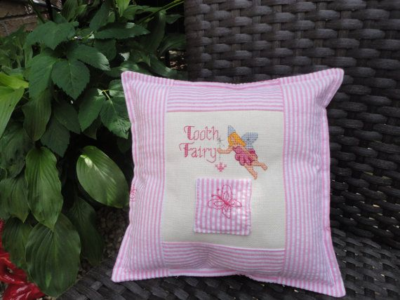 Girl's Tooth Fairy Pillow by HaystonsCreations on Etsy, $15.84