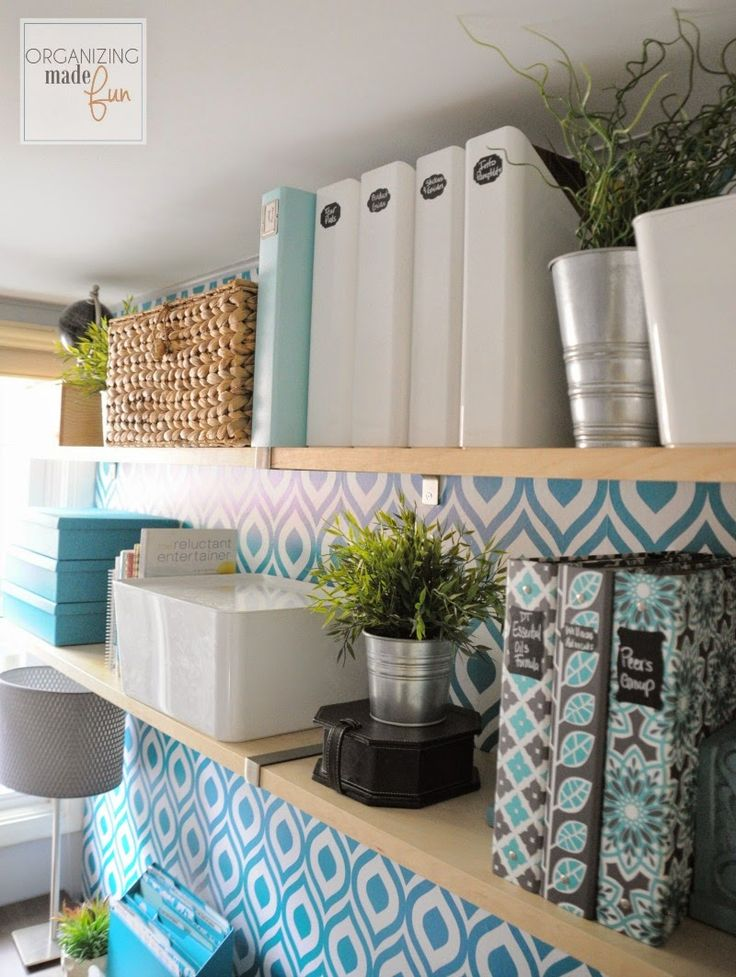 Learn the tips and tricks on how to organize a home office.  Great home decor and organization post from Organizing Made Fun!