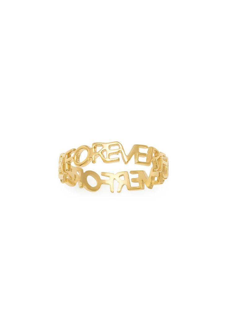 Maria Francesca Pepe All lover forever letters ring Shop now> https://www.mariafrancescapepe.com/showplarge.aspx?prodid=802&catid=47&utm_source=Social&utm_medium=Pinterest&utm_campaign=Fw14_ring_%20forever
