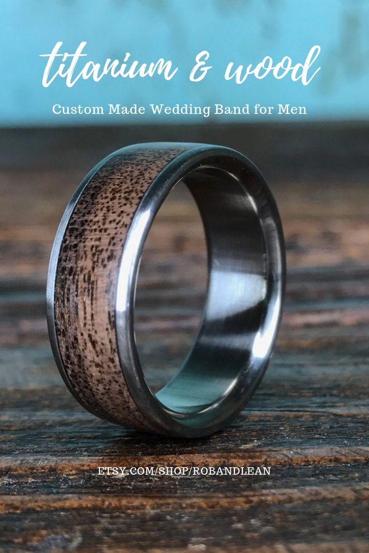 Handmade Titanium Ring Custom Made Ring Women S Wedding Etsy Wedding Band Engraving Cool Wedding Rings Black Wedding Rings