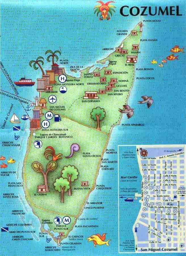 cozumel mexico map | cozumel map
