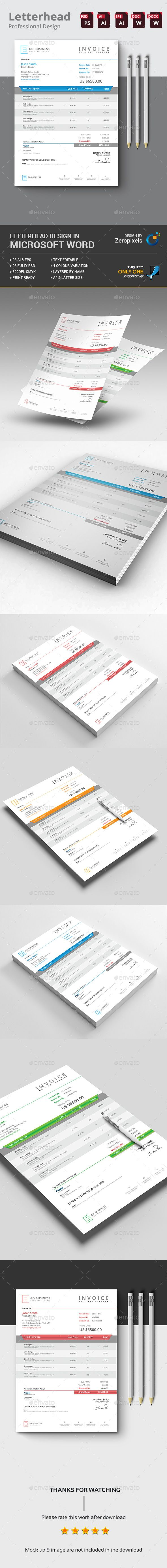 17 best ideas about microsoft word invoice template clean invoice template psd vector eps ai ms word here