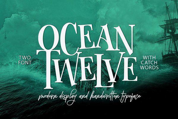 Ocean Twelve Font Duo + Extras - Display