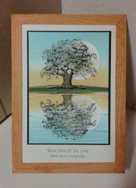Reflection card with Lovely as a Tree. Stampin' Up!