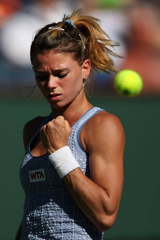 Qualifier Camila Giorgi faced a world-wind of emotions in her debut & run to the 4th rd of her first BNPP Open. After defeating the Indian Wells' Defending Champion, Maria Sharapova, she fell to Flavia Pennetta in straight sets.