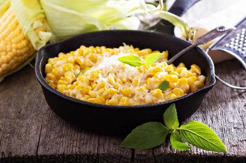 Кукуруза со сливками и пармезаном