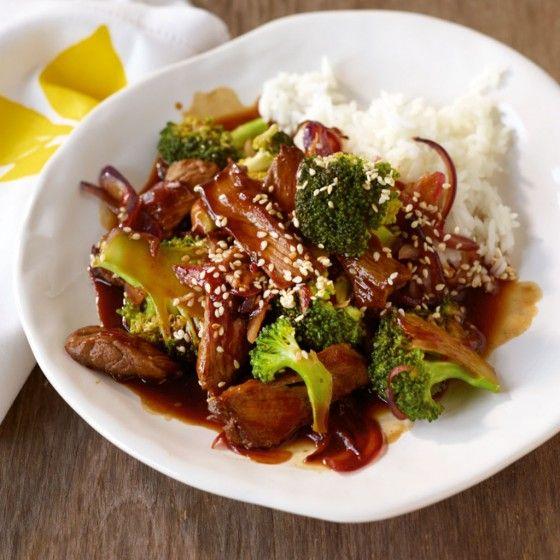 ESSEN & TRINKEN - Teriyaki-Rind mit Broccoli Rezept