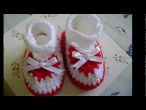 Passo a passo bota cano alto pra Bebê em crochê Parte-2 - YouTube