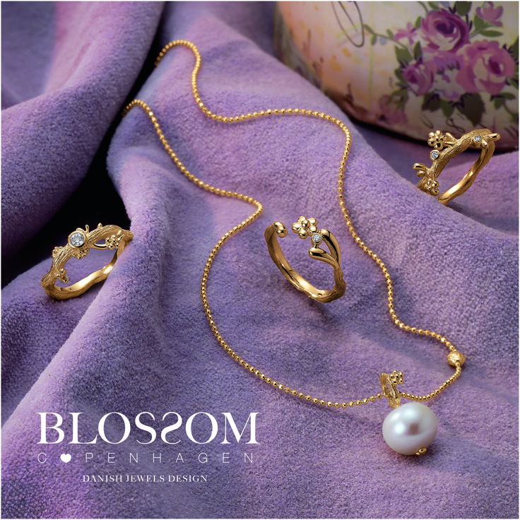 www.blossomcopenhagen.com or www.houseofjew.com Lovely Danish goldplated sterling silver collection designed by Christina Elbro Lihn - Show your love and let it Blossom.......