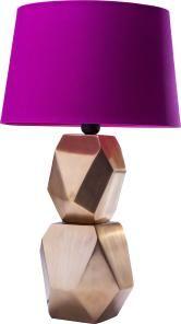 Dramatisch, praktisch, gut: Diese exklusive Lampe mit Metallfuß und intensiv pinkem Schirm sieht einfach bombastisch aus.
