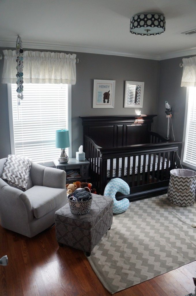 Wall color & chevron!
