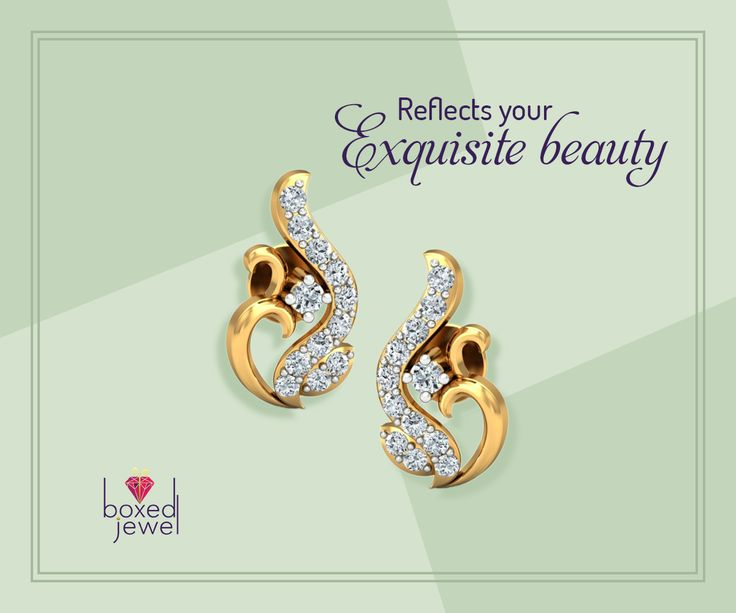 Pair this duo with your traditional wear to be the talk of the town. #Gold #Diamond #Earrings #Jewelry