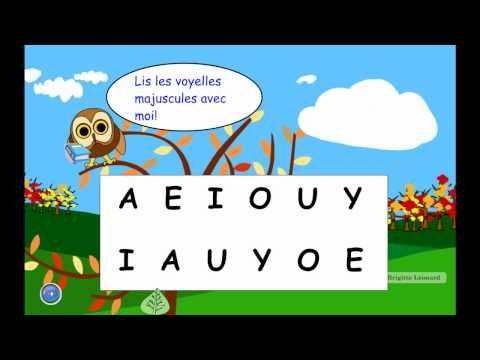 Voici une animation permettant de pratiquer la lecture des voyelles. Il est conseillé de la visionner en mode plein écran si utilisée sur le tableau blanc, en cliquant sur les 4 flèches au bas. N'...
