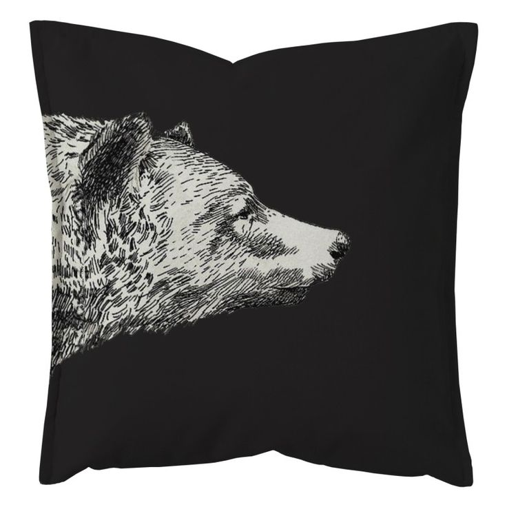 "Decorative pillow cushion design ""Black Bear"""