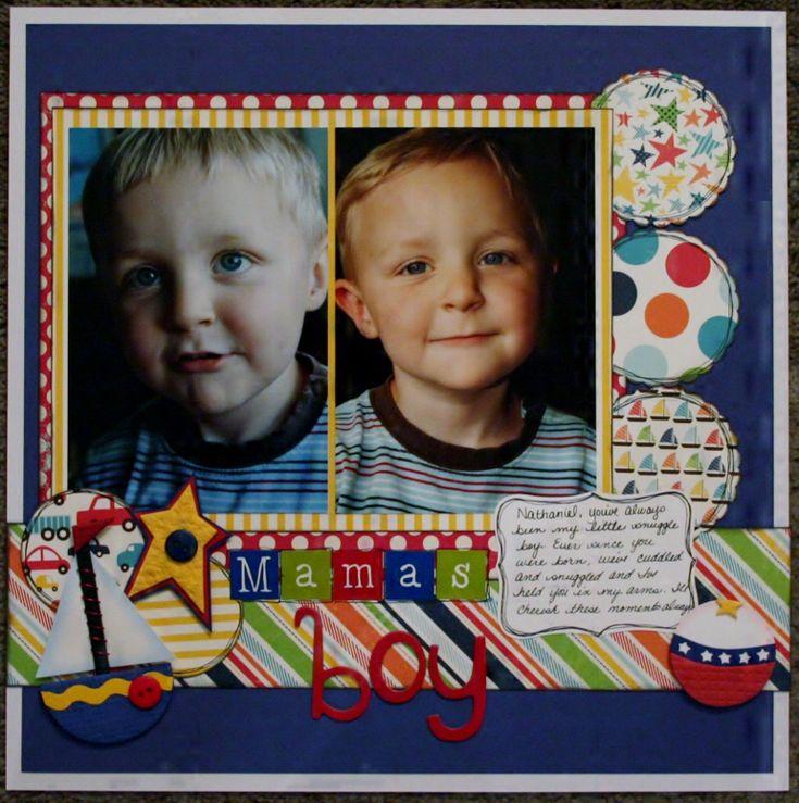 echo park - little boy: Boys Layout, Boys Scrapbook Layout, Scrapbook Photos, Mama Boys, Scrapbook Layout For Boys, Scrapbook Pages, Scrapbook Layout Boys, Echo Parks, Little Boys