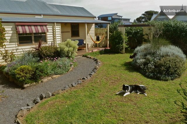 The Lighthouse cottage. The front garden and veranda.