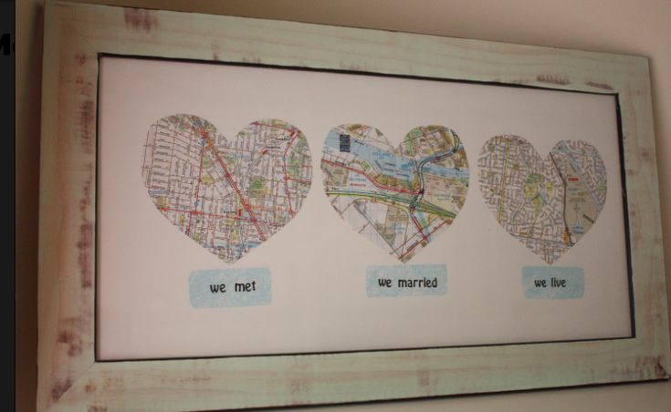 Personalized DIY Gifts for the Newlyweds at the Bridal Shower or Wedding:   Minmoz's Love Map tutorial