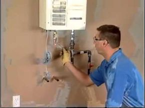 Tankless Water Heater Installation   Plumbing and Gas Connections - YouTube