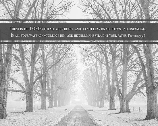 """Trust in the Lord with all your heart, and do not lean on your own understanding. In all your ways acknowledge Him, and He will make straight your paths."" Proverbs 3: 5-6   This Bible verse is available as 8X10 inch ready to frame wall art. Please click the picture for the link."