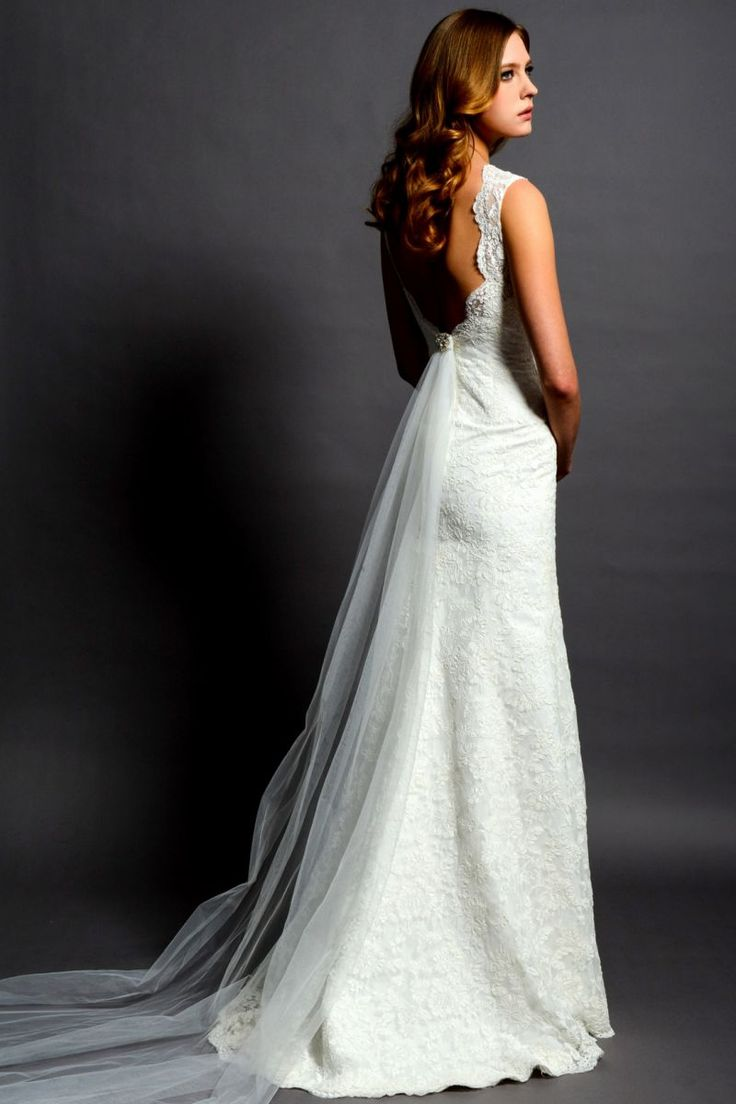 Eden Bridal BL059 - vintage backless wedding dress
