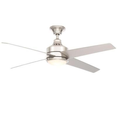 Home Decorators Collection Mercer 52 in. Brushed Nickel Ceiling Fan-14725 - The Home Depot - master