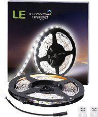 LE® Flexibel 12V DC LED Streifen, 300lm / 4,8W pro Meter, kaltweiß, 6000 Kelvin, 300 Stück 3528 LEDs, nicht wasserdicht, 5M in jeder Packung, LED Lichtleiste Lichtband, LED Band
