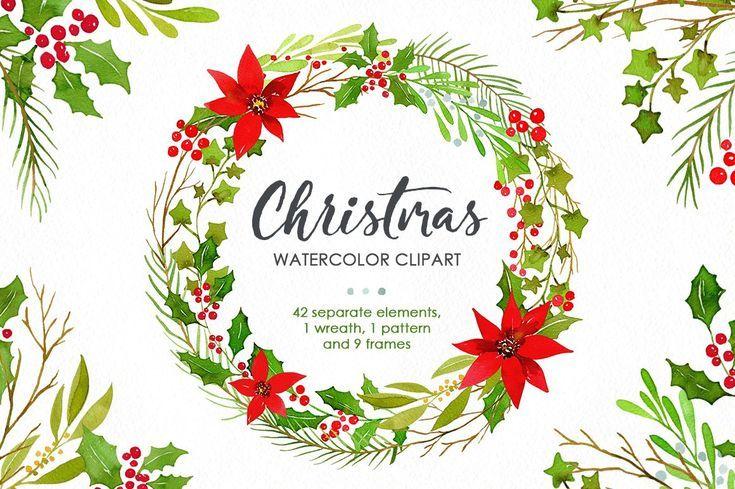 Watercolor Christmas Greenery Png Christmas Watercolor Christmas Greenery Christmas Illustration