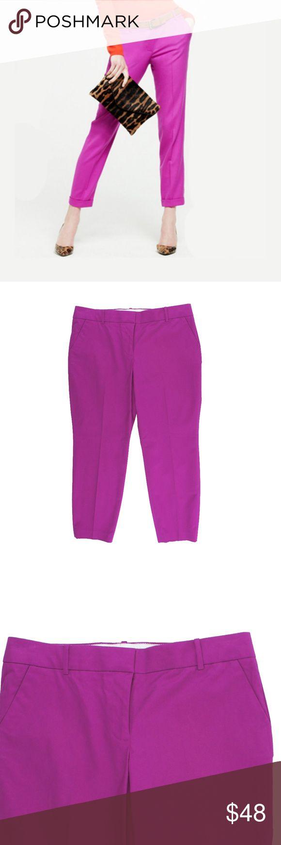 new jcrew cafe capri pants in bright dahlia pink - Purple Cafe Ideas
