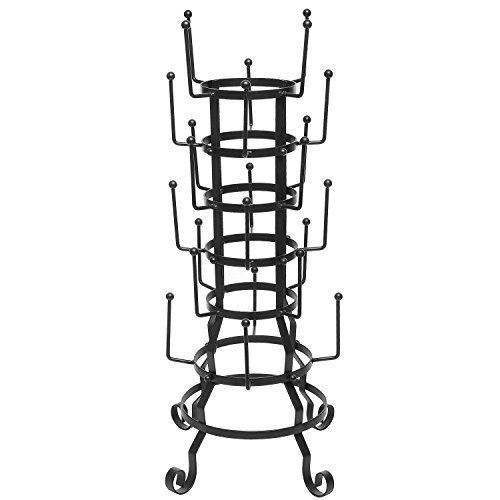 Vintage Rustic Black Iron Mug Glass Cup Bottle Hanger Hooks Drying Rack Organize #MyGift