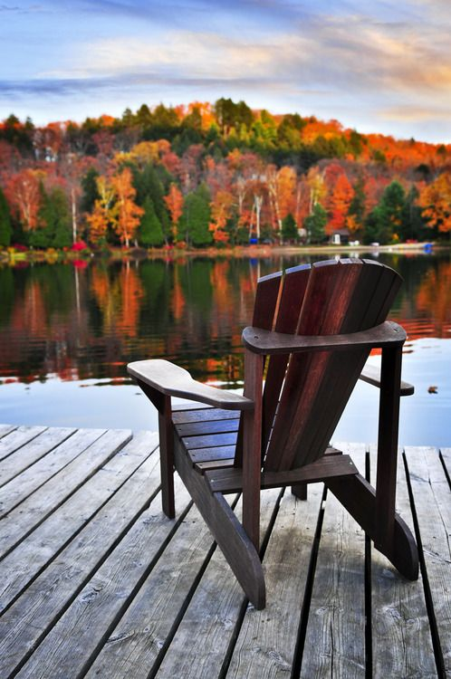 Let's sit outside and enjoy the view.