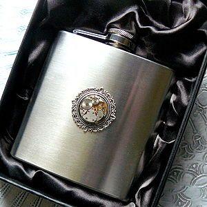 Watch Movement Hip Flask - men's accessories