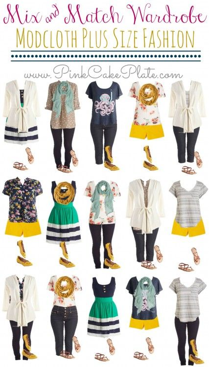 Plus Size Spring Style From Mod Cloth Mix Match