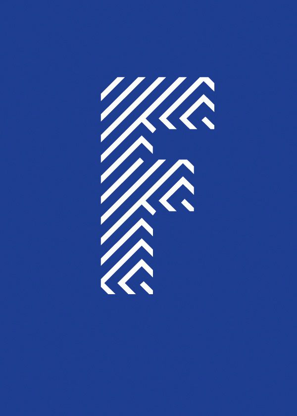 F Typographic Poster byManolo Guerrero #printdesign