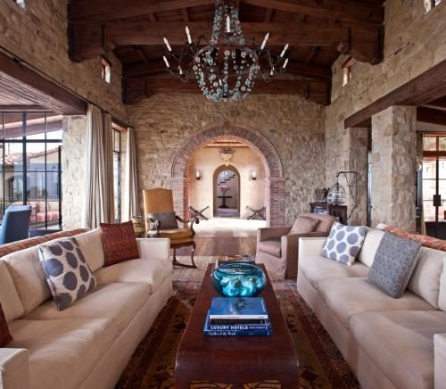 Michael S Smith: Living Area, Large Window, Dreams Kitchens, Michael S Smith, Stones Wall, Beaches Living Rooms, Laguna Beaches, Beaches Houses, Design