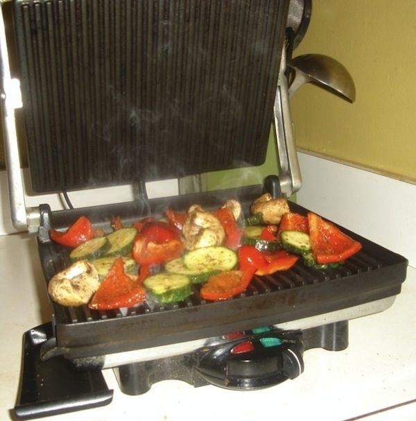Grill lots of veggies. | 18 Surprising Things You Can Make In A Panini Press