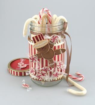 Candy Cane Christmas Jar: Christmas Crafts, Crafts Ideas, Holidays Crafts, Christmas Jars, Gifts Ideas, Jars Crafts, Candy Canes, Mason Jars, Diy Christmas