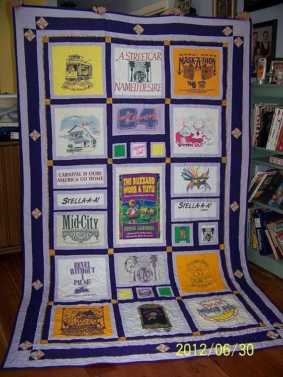Hey, I found this really awesome Etsy listing at https://www.etsy.com/listing/98852746/t-shirt-quilts-custom-made-to-your-theme