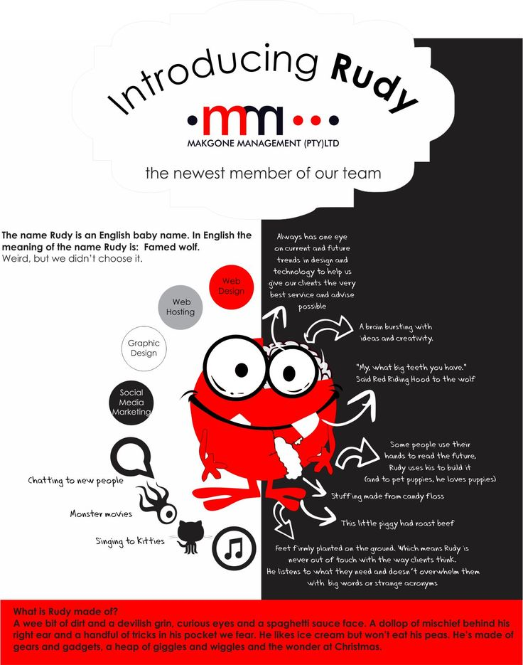 Introducing Rudy - Rudy Madder  #infographic #webdesign