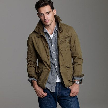 Trapper jacket - cotton - Men's outerwear - J.Crew