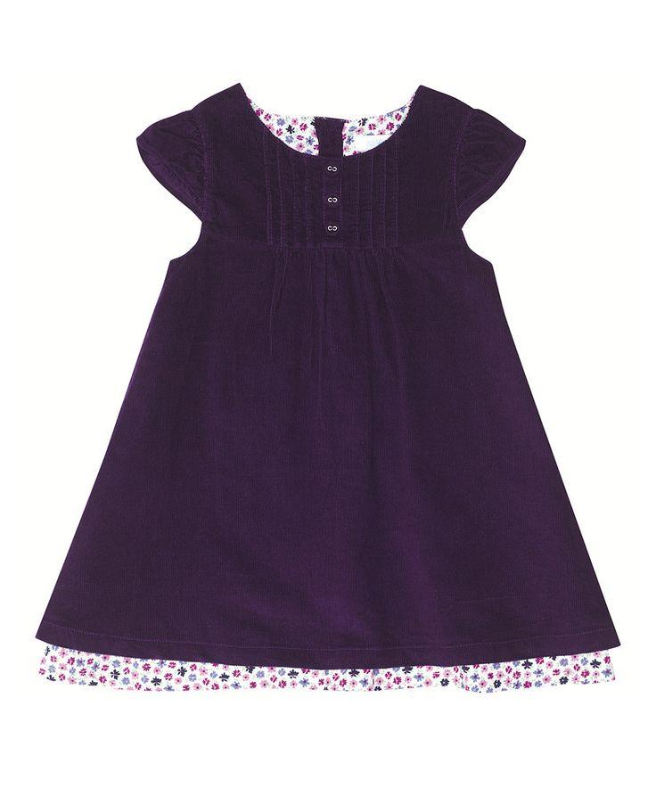 Look what I found on #zulily! Mulberry Corduroy Cap-Sleeve Dress - Infant, Toddler & Girls by JoJo Maman Bébé #zulilyfinds http://www.zulily.com/invite/arthurcurry89462