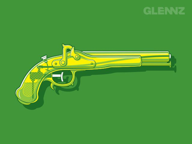 Vintage Water Pistol - A Glennz Tees Original T-Shirt