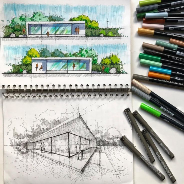"""18.1k Likes, 23 Comments - Architecture - Daily Sketches (@arch_more) on Instagram: """"By @mutonisketches #arch_more"""""""