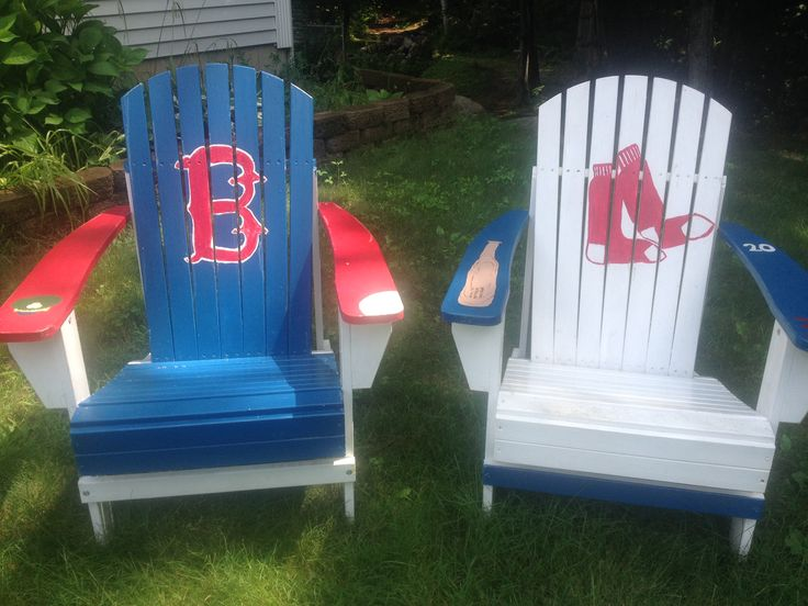 Hand Painted Boston Red Sox Adirondack Chairs