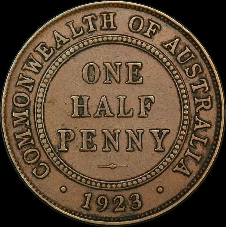 1923 HALFPENNY good VF $3500 dollers wow