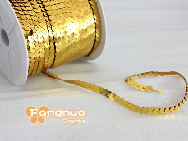 Хиты 2013 продавать, Пвх блестки, Золотыми блестками строк строки, Одежда, Обувь, Diy аксессуары и украшения, 6 мм блеск